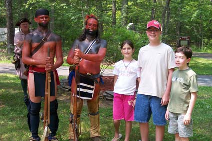 C.A.R. members learn about American Indians who fought at the Battle of Minsink.