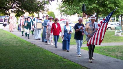 DAR members march in the July 4th Parade at Veteran's Park in Port Jervis.