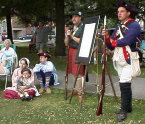 Reenactors guarding the Declaration